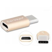 Earldom Micro-USB naar USB-C adapter Roze